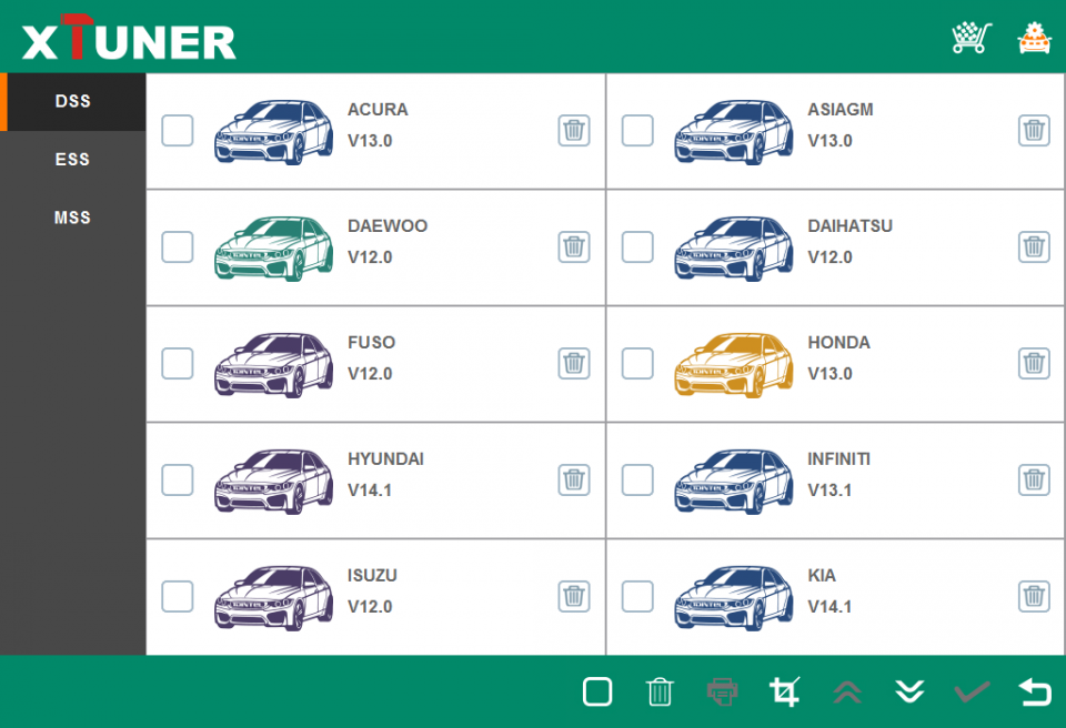 XTUNER E3 V8 2 WINDOWS 10 Wireless OBDII Diagnostic Tool
